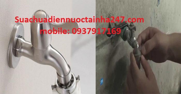 cách thay vòi nước