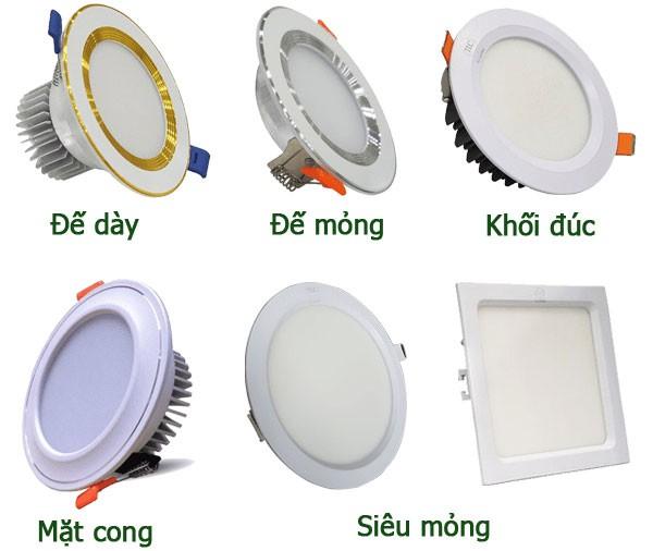 Các loại đèn led âm trần được sử dụng rộng rãi