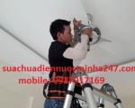 Sửa chữa điện - nước tại nhà chuyên nhận thi công lắp đặt quạt trần tại nhà trên khắp các quận huyện TP. HCM
